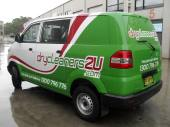 Combination digitally printed wrap and vinyl cut graphics