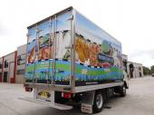 Full digital printed truck wrap